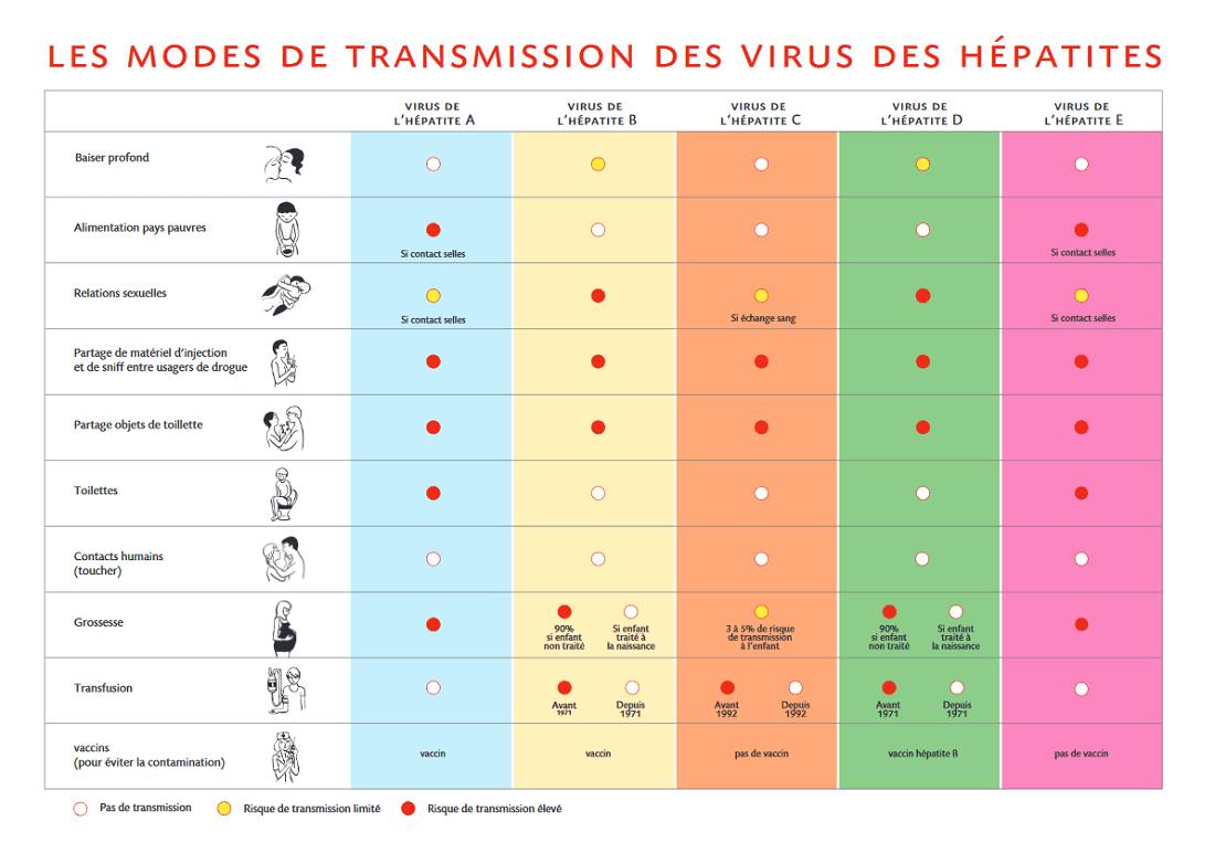 modes transmission hépatites